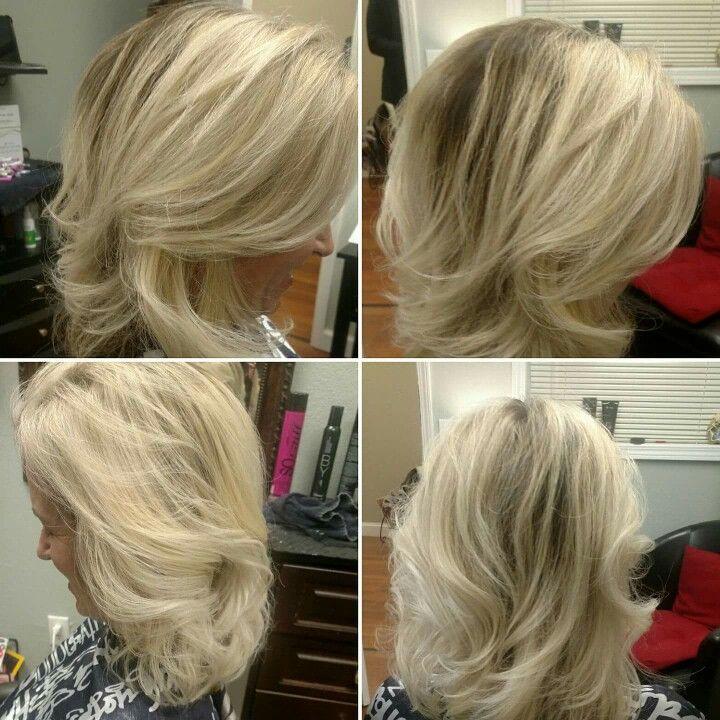 Balayage hair color. Salon in Woodstock GA. Blonde hair