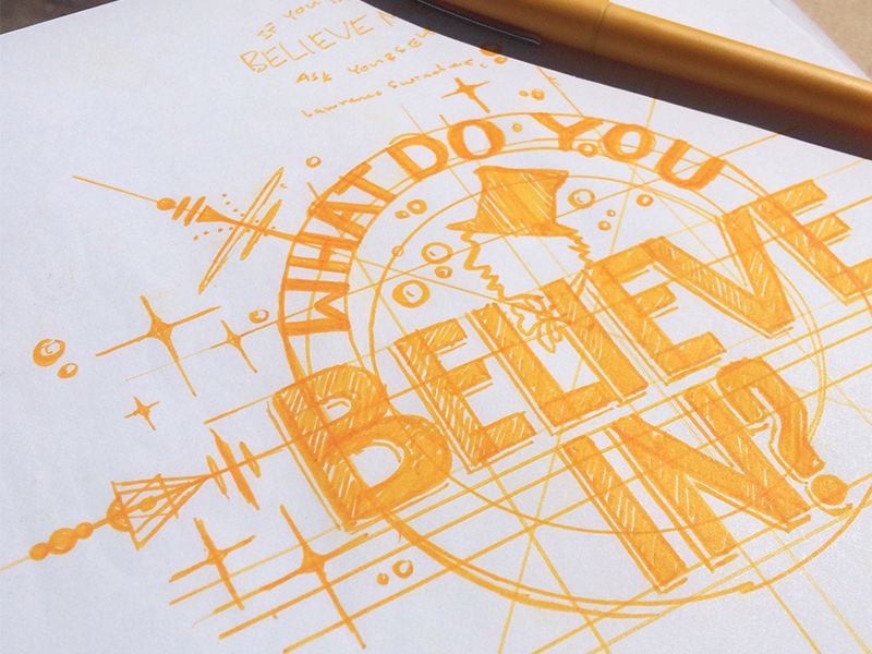 A process shot of a ongoing lettering project inspired by the original Willy Wonka and the Chocolate Factory movie. By Robert De Leon ~ via Dribbble  I...