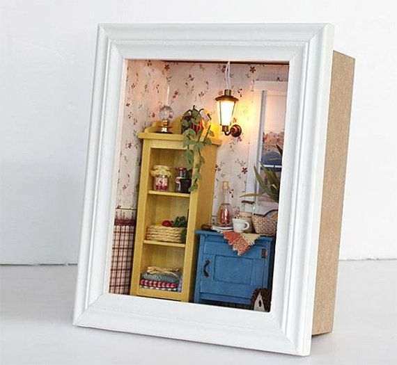 3d wooden frame led light miniature diy do it by barvazon10 items similar to wooden frame led light miniature diy do it yourself dollhouse room craft kit with cover lights kids room night light lamp decore on etsy solutioingenieria Choice Image