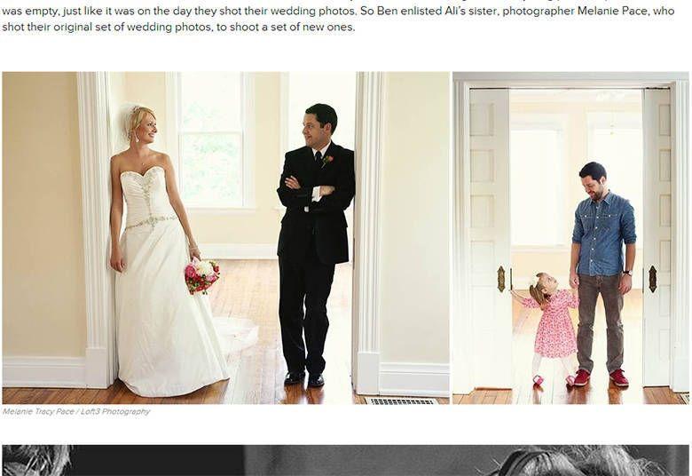 Após a mulher morrer de câncer, pai recria fotos do casamento com filha de dois anos - Fotos - R7 Moda e Beleza