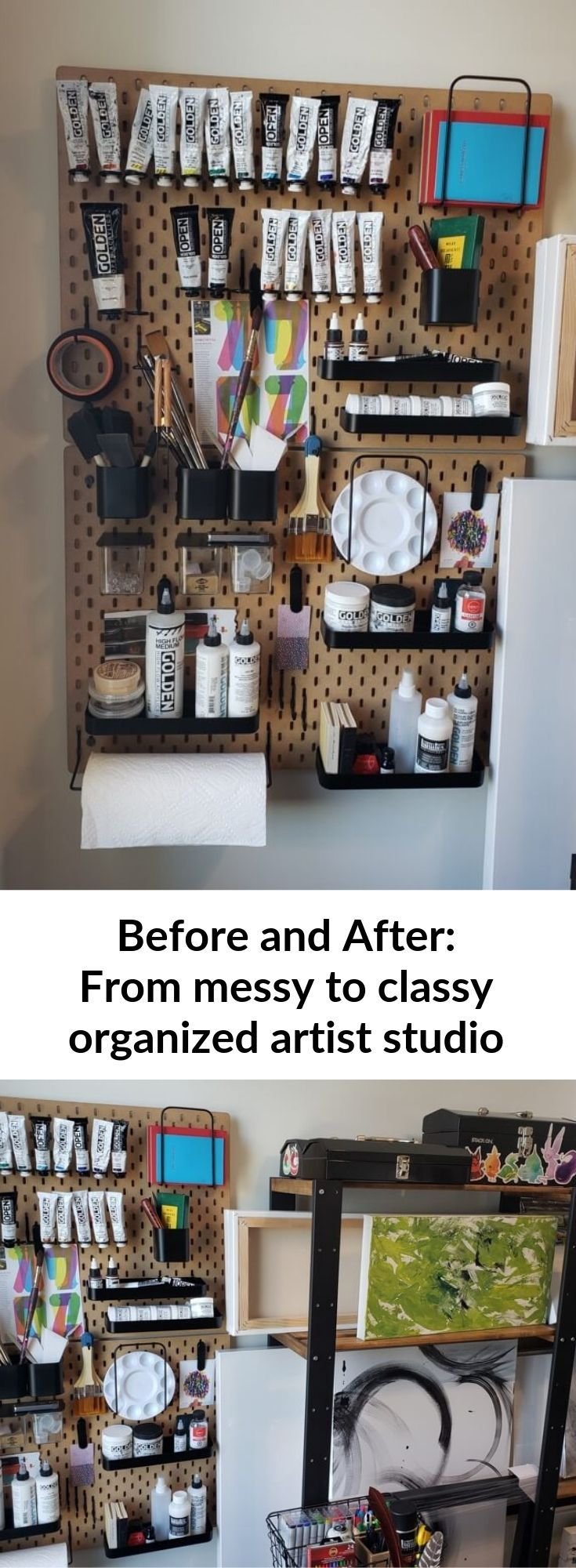 From cluttered to classy, organized art canvas storage - IKEA Hackers