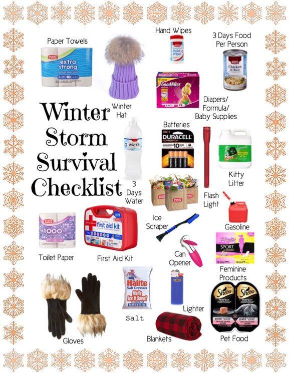 Winter Storm Survival Checklist