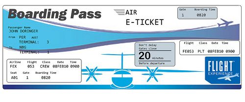 clipart of airplane ticket – Plane Ticket Template
