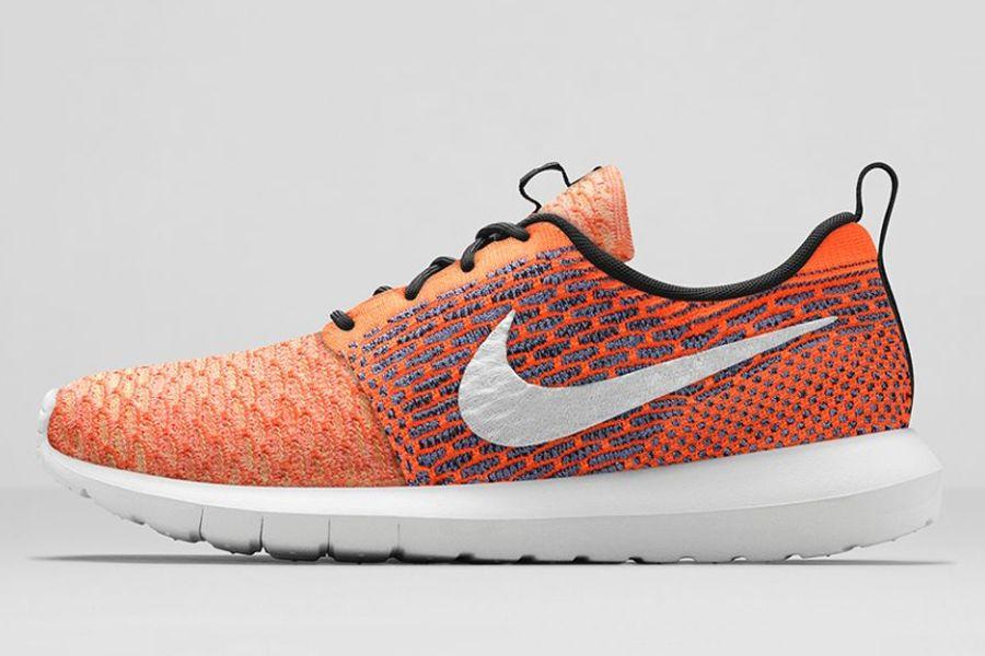 Run Nike Roshe Flyknit Roue De Couleur De Fil Aléatoire