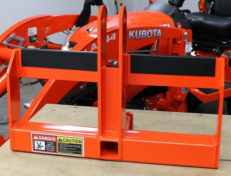 Adhesive rubber added to Heavy Hitch for Suitcase weights - Kubota