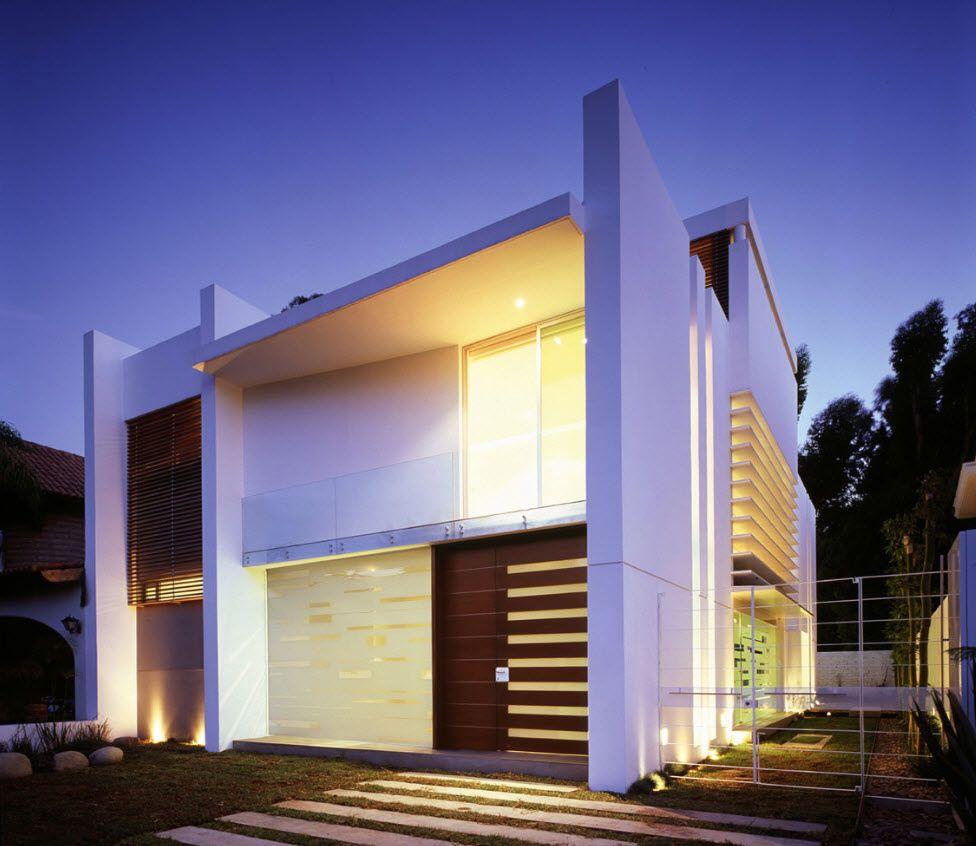 Diseño de casa de dos pisos con estructura moderna, interesantes ...