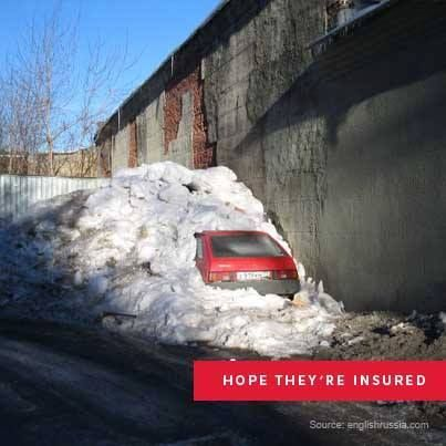 Here S A Tip If You See A Slanted Roof With Heaps Of Snow On Top