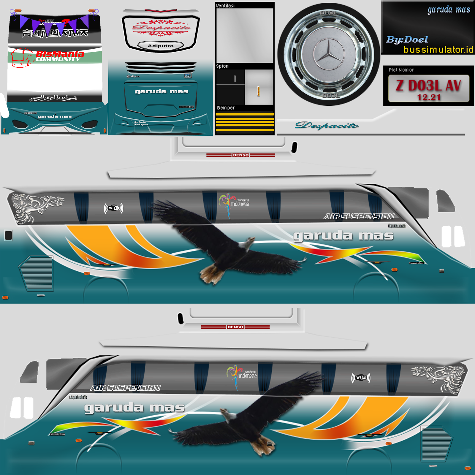 #1 bussid vehicle mod sharing and download platform. discover the coolest bus garuda mas