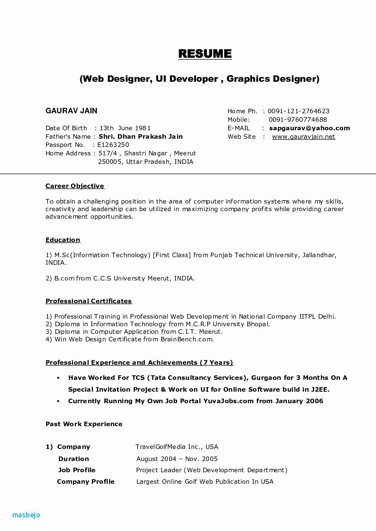 B Com Resume Templates New Photos Web Developer Resume Fresh Pr Resume Template Elegant Dictionarysample Job Resume Format Online Resume Graphic Design Resume