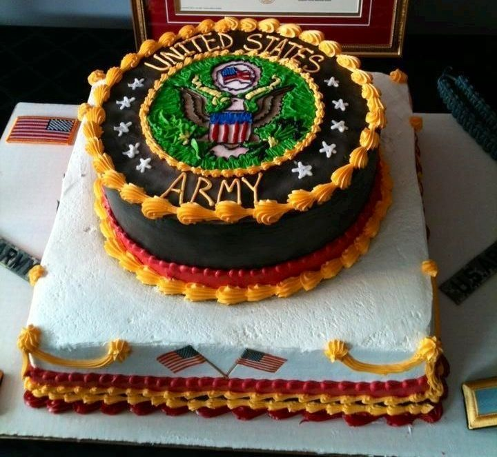 Military Army Retirement Cake Ideas