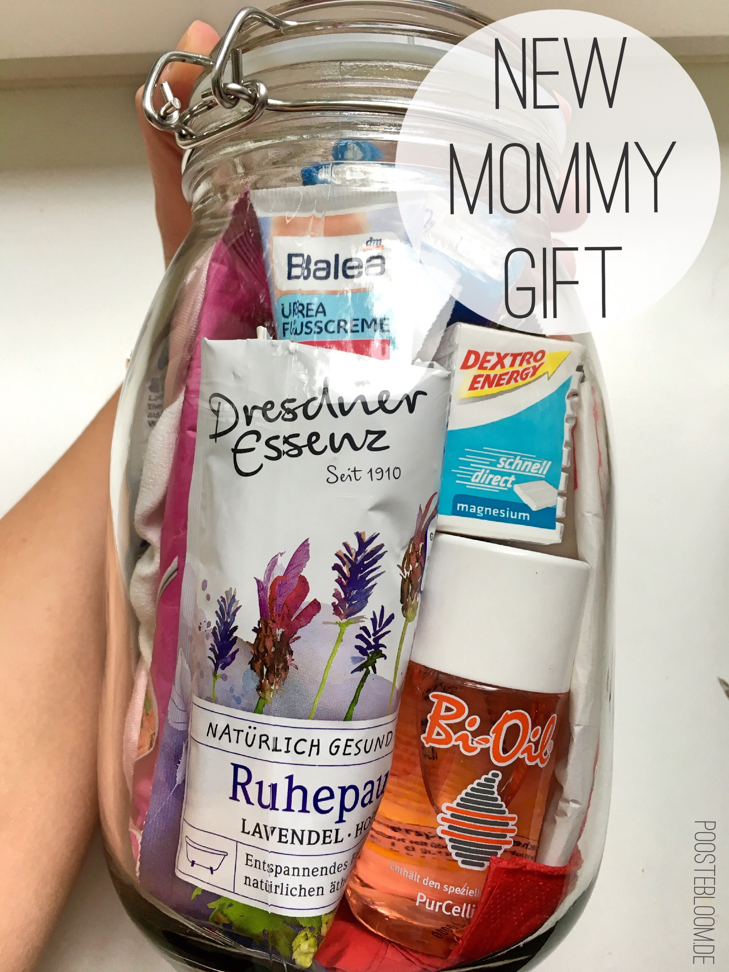 Diy Mothers Day Gifts From Baby Diy Für Frischgebackene Mütter New Moms Gift In A Jar