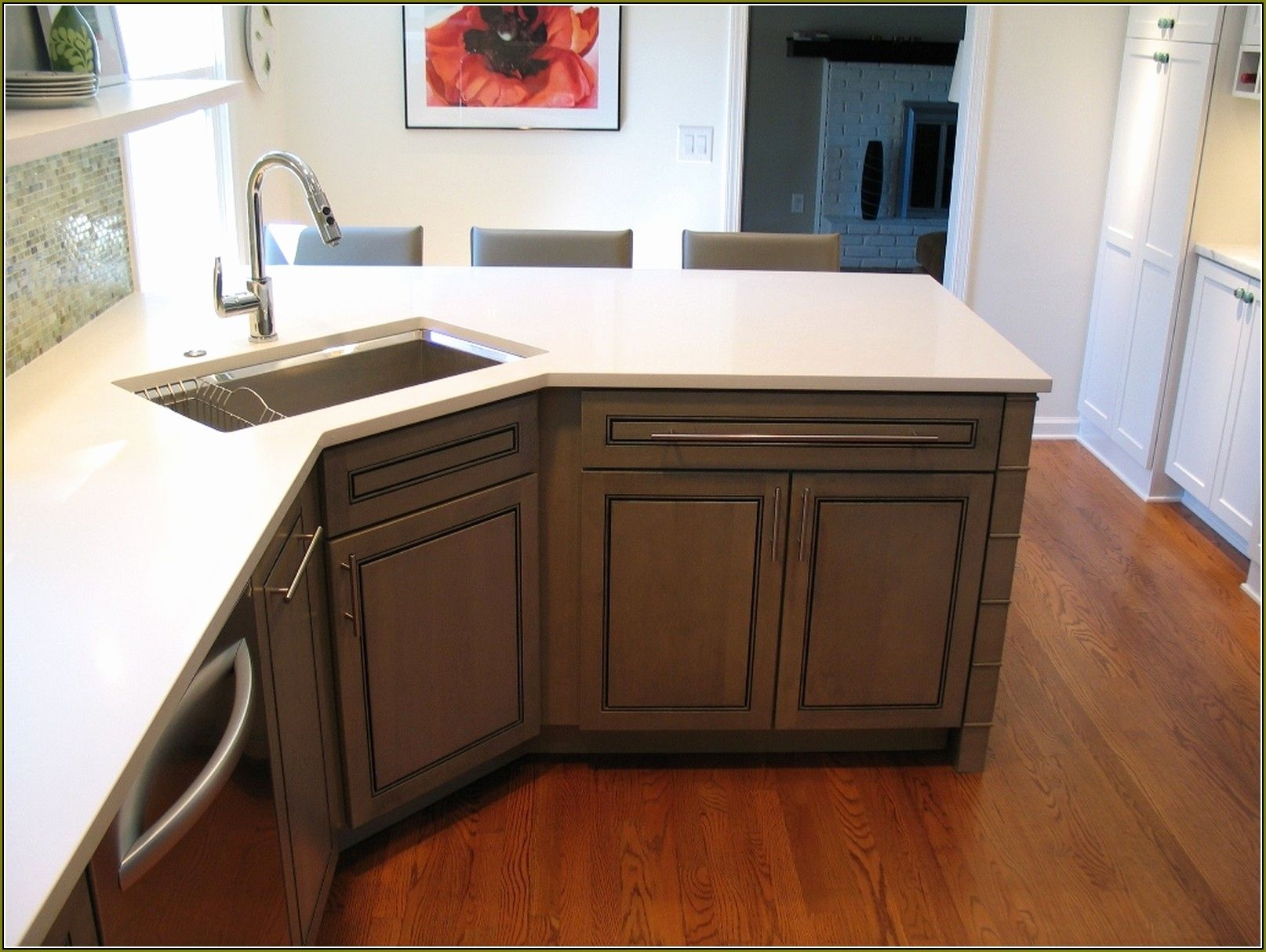 Corner Sink Base Cabinet Plans Home Decor Small Kitchen Sink Kitchen Design Kitchen Tops Granite