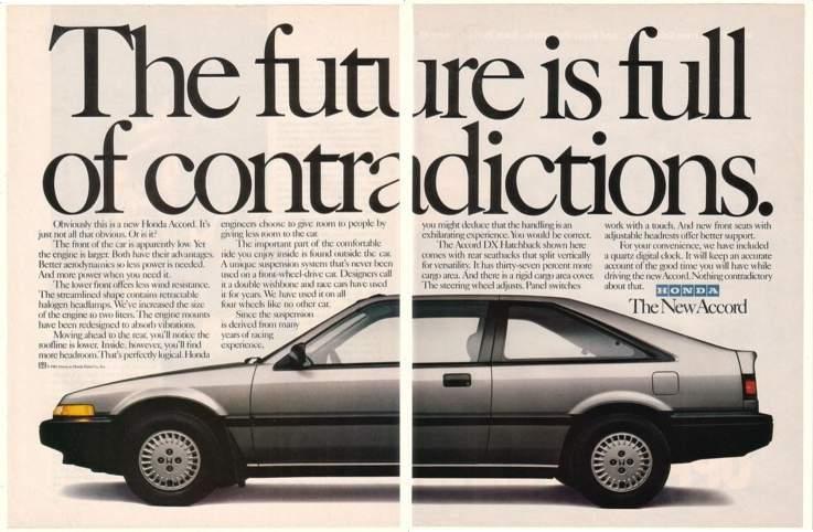 1985 Honda Accord Dx Hatchback Ad Car Posters Honda Accord Honda