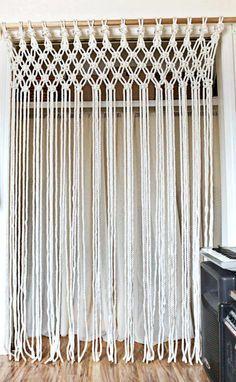 Make Your Own Macrame Curtain A Beautiful Mess Curtains For Closet Doors Diy Closet Doors Door Curtains Diy