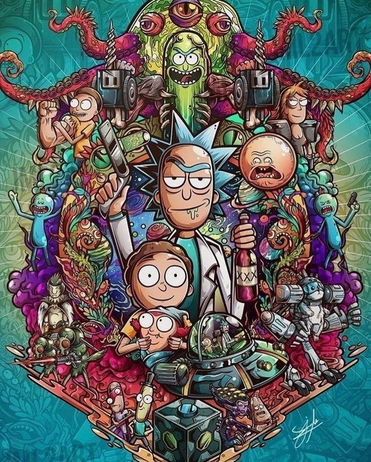 Rick and Morty Verse. Wallpaper de desenhos animados