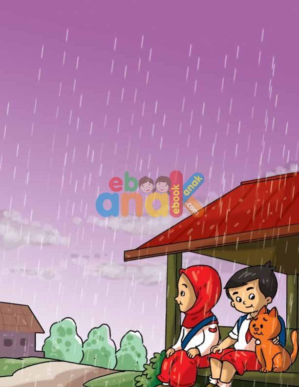 Menunggu Hujan Reda Sekolah