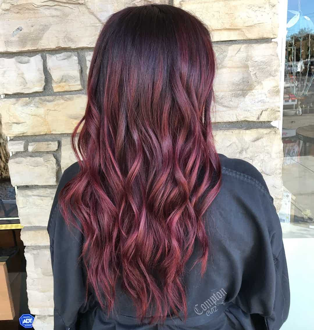 11 Mulled Wine Hair Ideas for Winter 2018   Wine hair ...