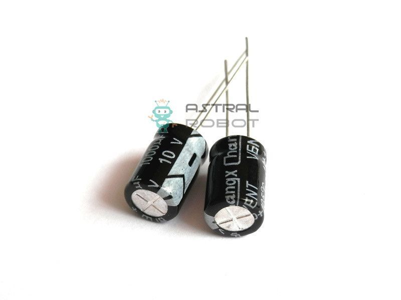5 PACK 1000uF 10V Radial Electrolytic Capacitor