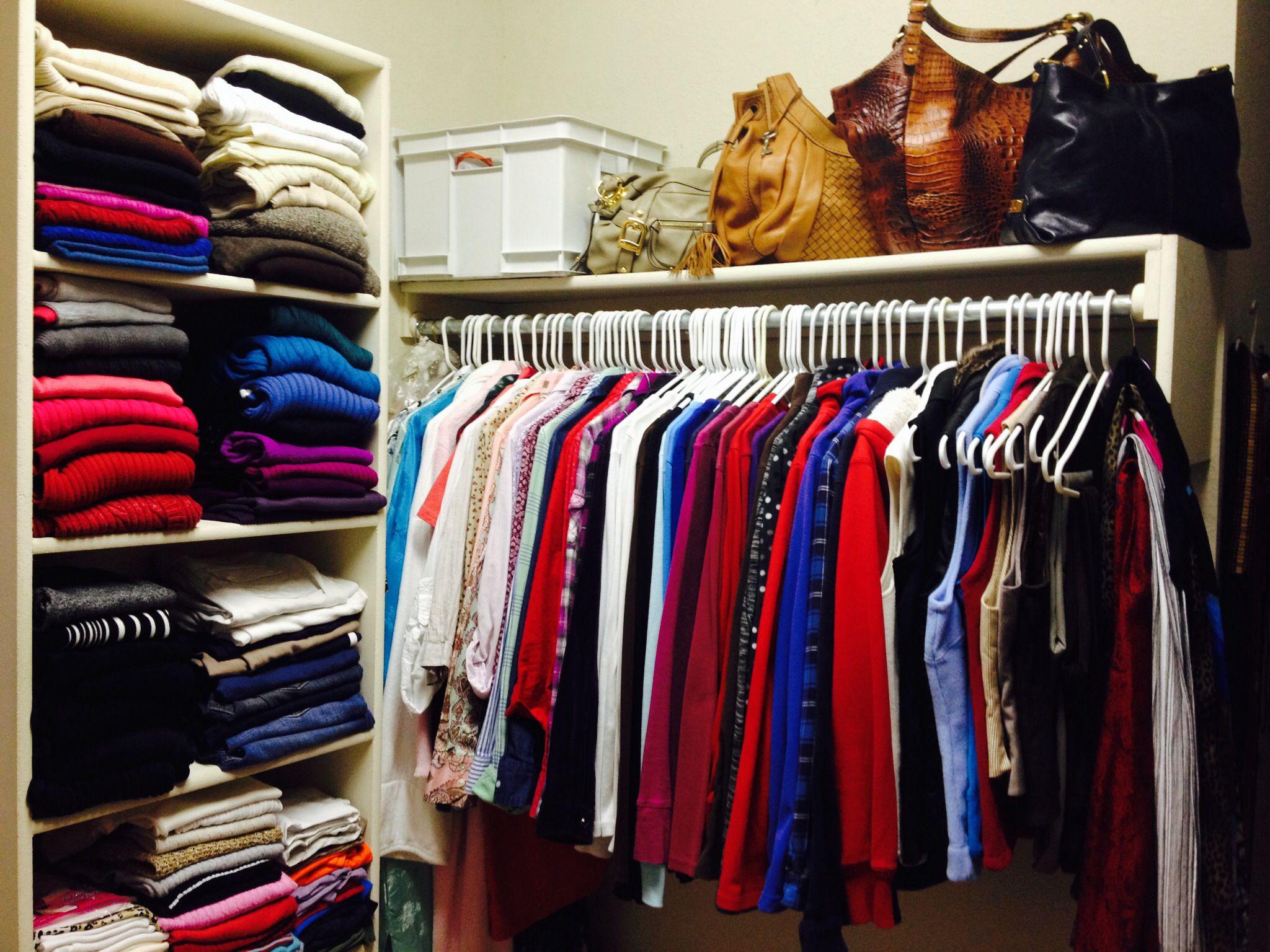 Color coordinated closet! | Color coordinated closet. Creative organization. Organization solutions