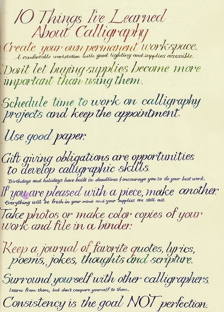 10 Things I\u0027ve Learned Calligraphy, Learning and Calligraphy letters
