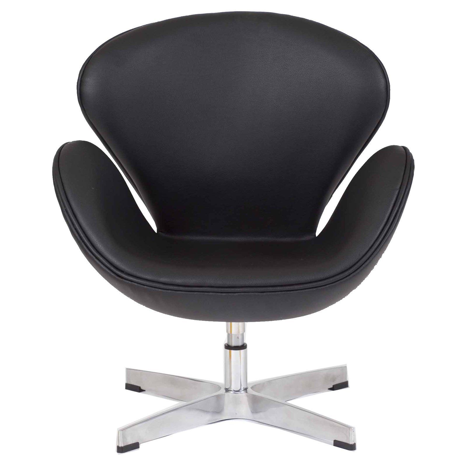 Pangea Home Star Faux Leather Lounge Chair   CH ASTRO BLK PU