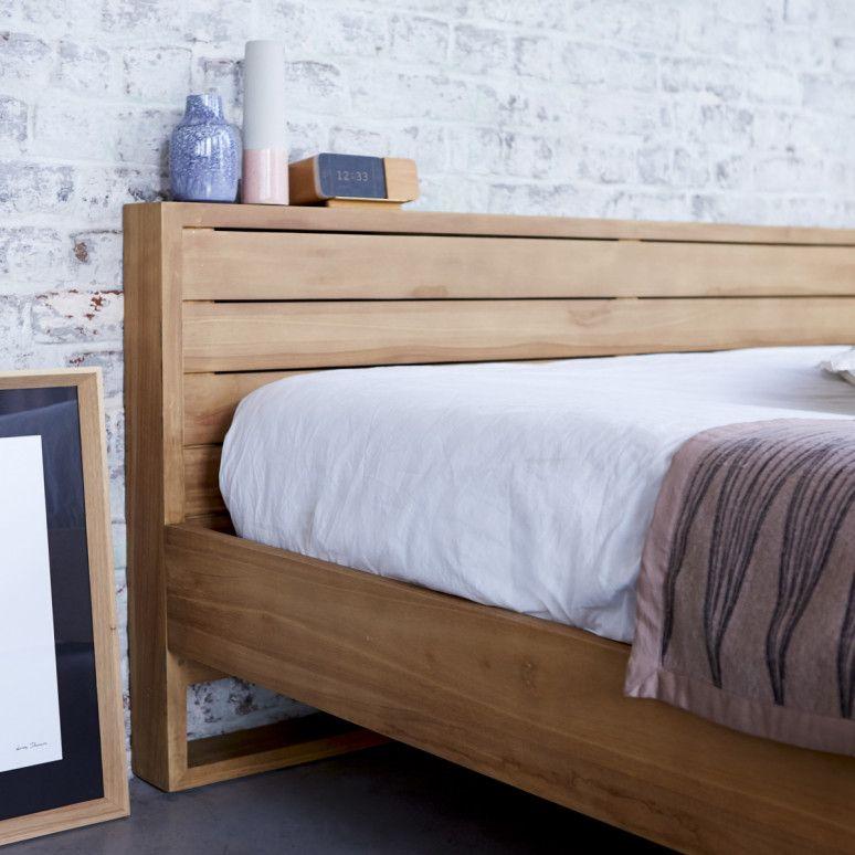 Minimalys Teak Bed 160x200 Bed, Bedroom color schemes, Teak