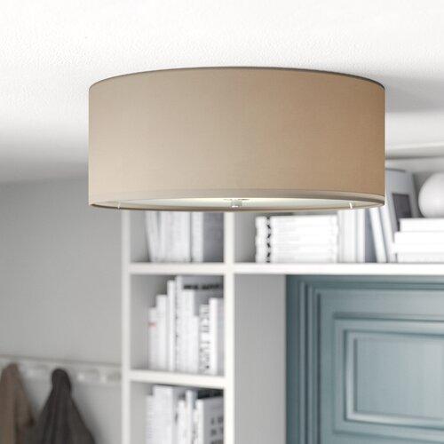 Pasteri 3 Light Flush Ceiling Light Eglo Shade Colour Taupe