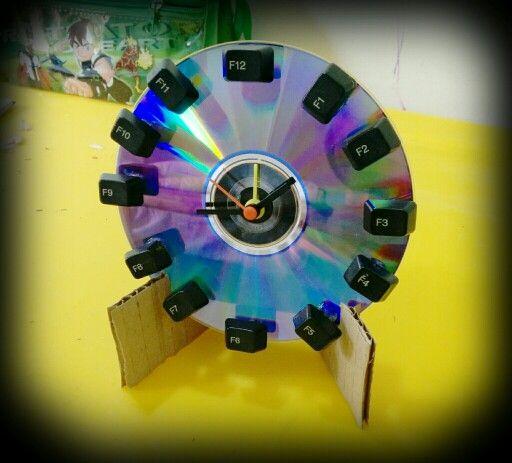 Reloj Con Material Reciclado Manualidades Reciclando