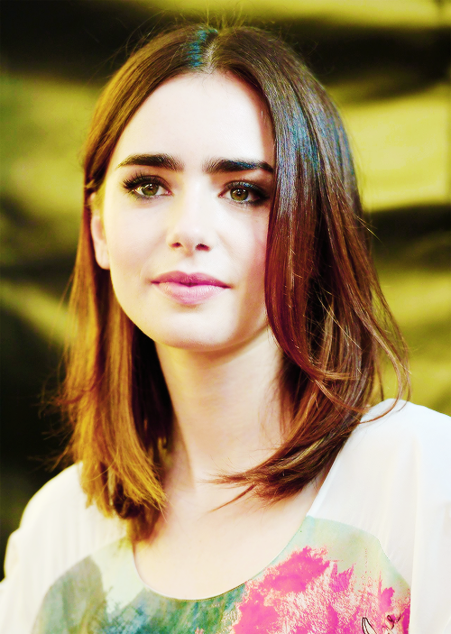 Lily Collins Possible Length/ Colour? | Hairstyles and ...