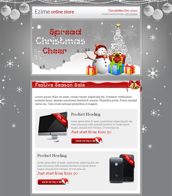 This Christmas Email Newsletter Template Includes A BlockModule