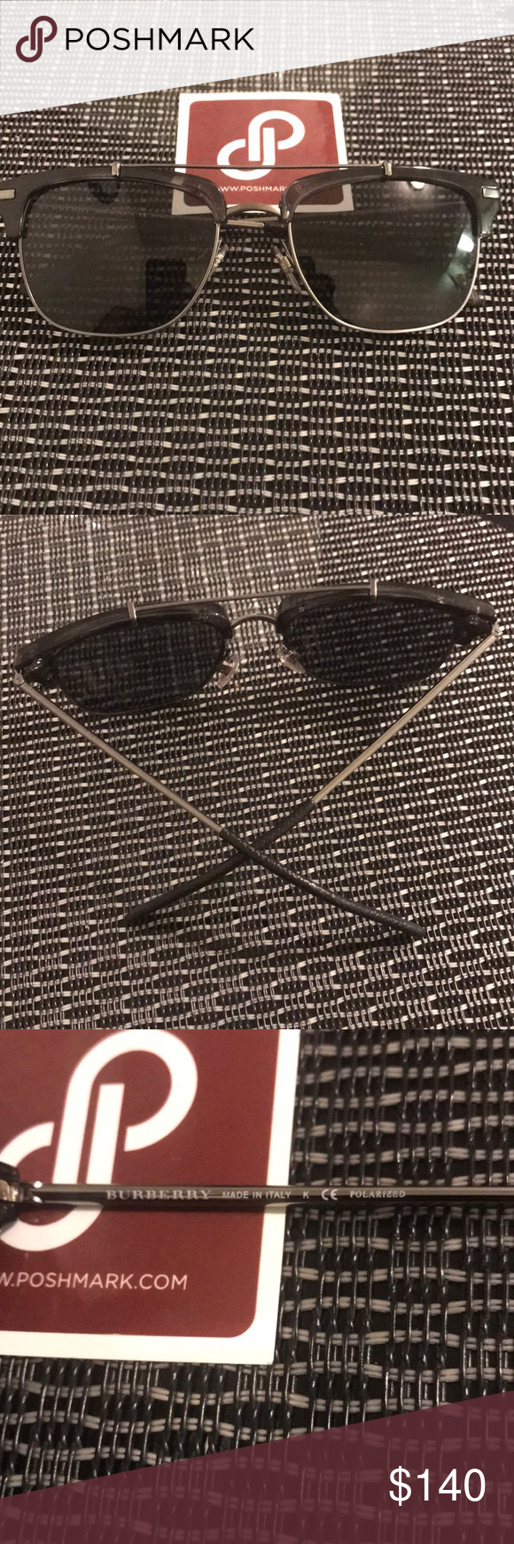 2df55eb1b16b Burberry Metal Frame Sunglasses 🕶 Authentic Unisex Model B 4202-Q Non  Burberry Case included Burberry Accessories Sunglasses