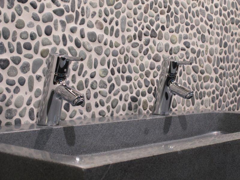 wandtegels mozaiek: mozaiek tegels in de badkamer courant., Badkamer