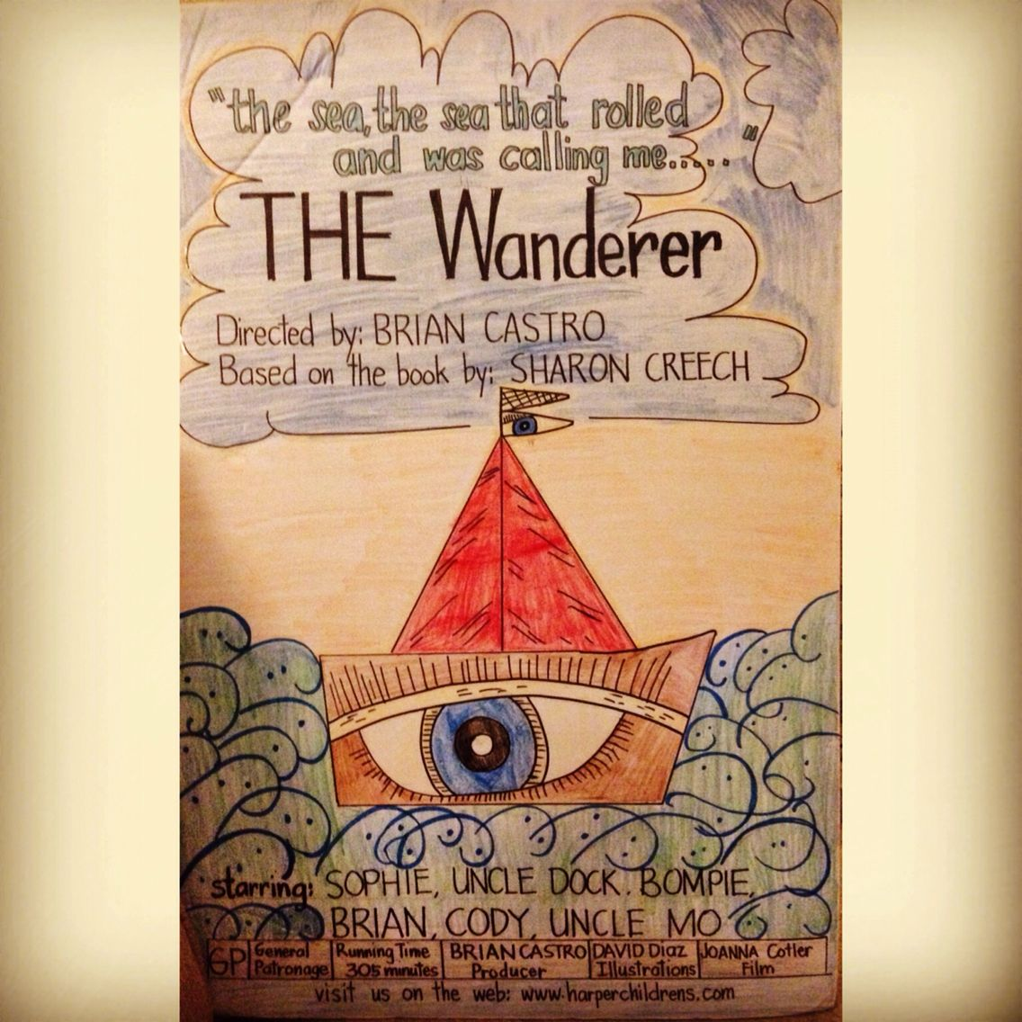 "Brian's 4th Grade ""Movie Poster"" Project For ""The Wanderer"