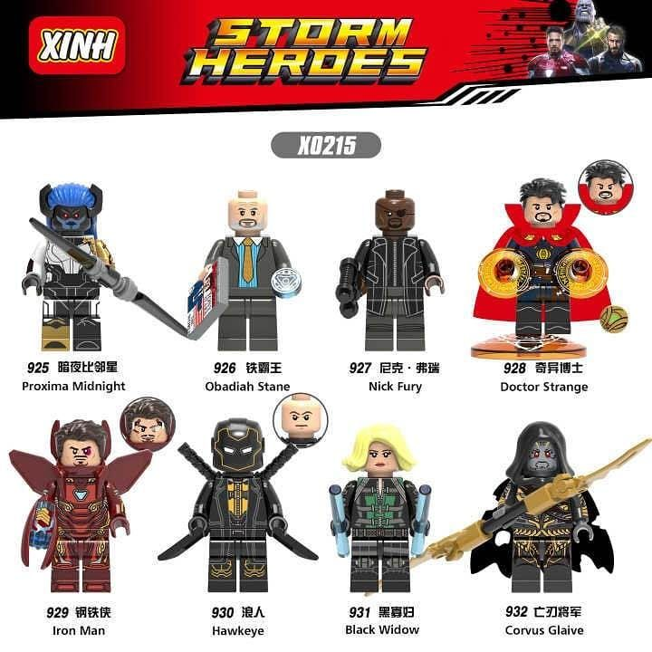 Marvel Avengers DC Super Hero Characters Mini Figure Custom Blocks Lego Bricks