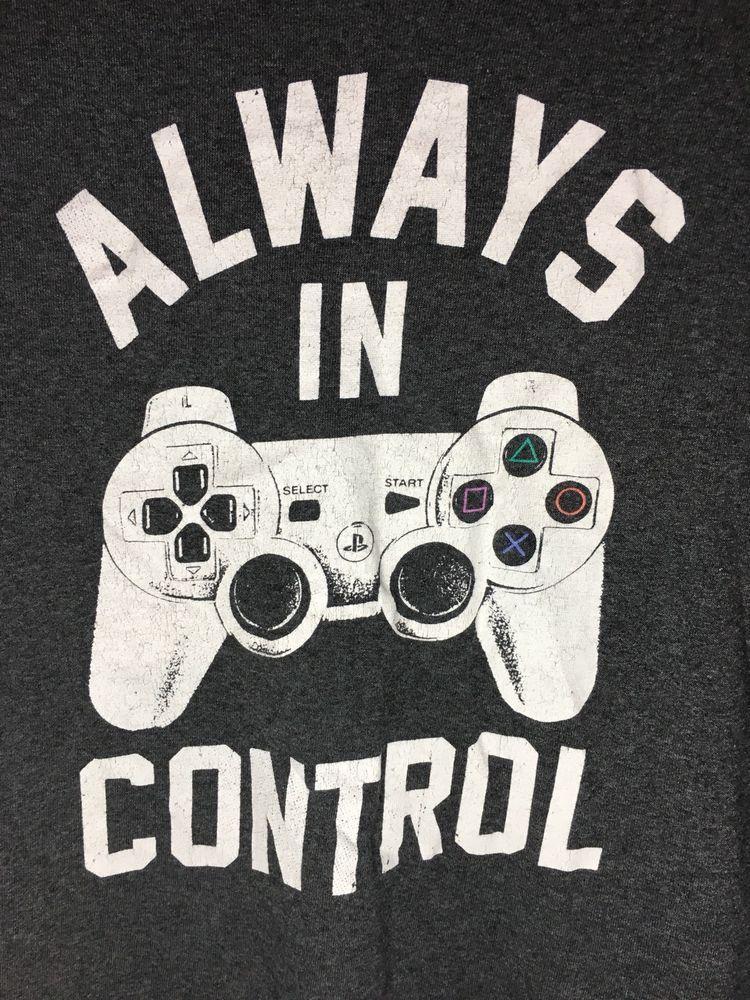 Sony Playstation T Shirt Always In Control Dualshock