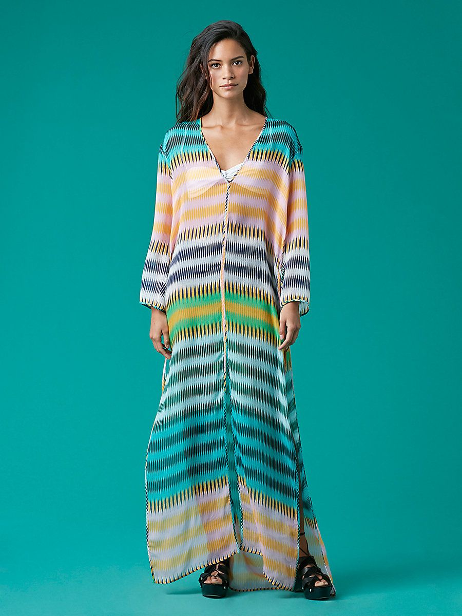 b24f38ed2a Tunic Floor-Length Cover-Up Long and kaftan-like, this lightweight  floor-length dress makes a striking and ethereal beach cover-up. Cut in  100% silk, ...
