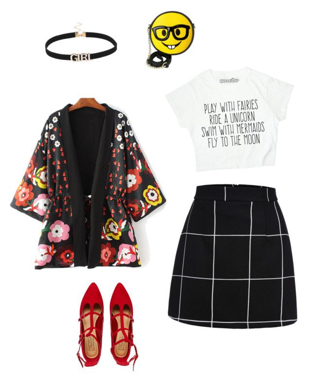 """Pop color"" by fashionreader on Polyvore featuring WithChic, Truffle and OLIVIA MILLER"