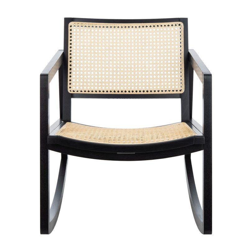 Maisonette Perth Rattan Rocking Chair Black In 2020 Rattan Rocking Chair Rocking Chair Chair