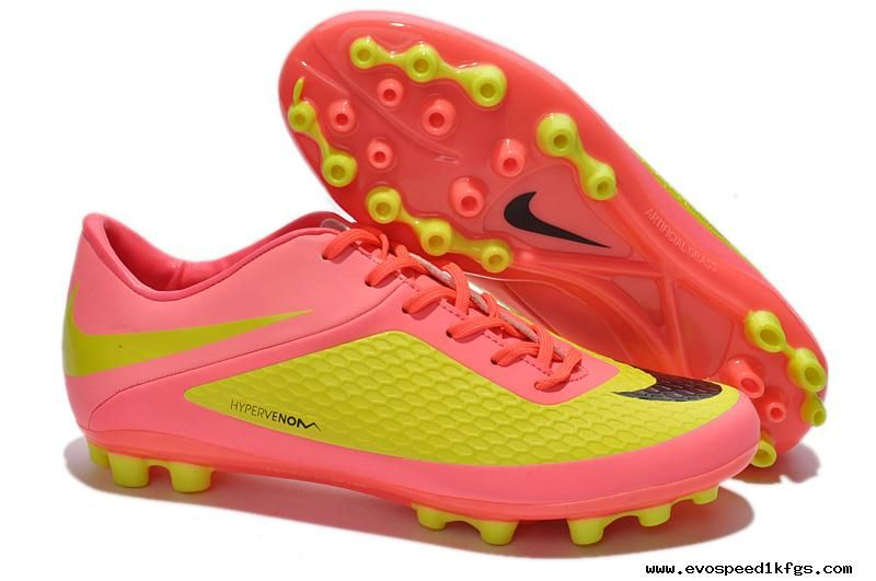 huge selection of 17dba 02b39 Nike Hypervenom Phelon AG Boots Green Yellow Hot Pink Black ...