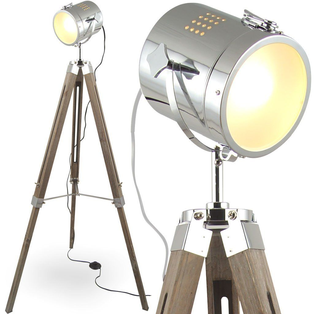 mojo stehleuchte tripod stehlampe dreifuss lampe urban industrial design braun l30. Black Bedroom Furniture Sets. Home Design Ideas