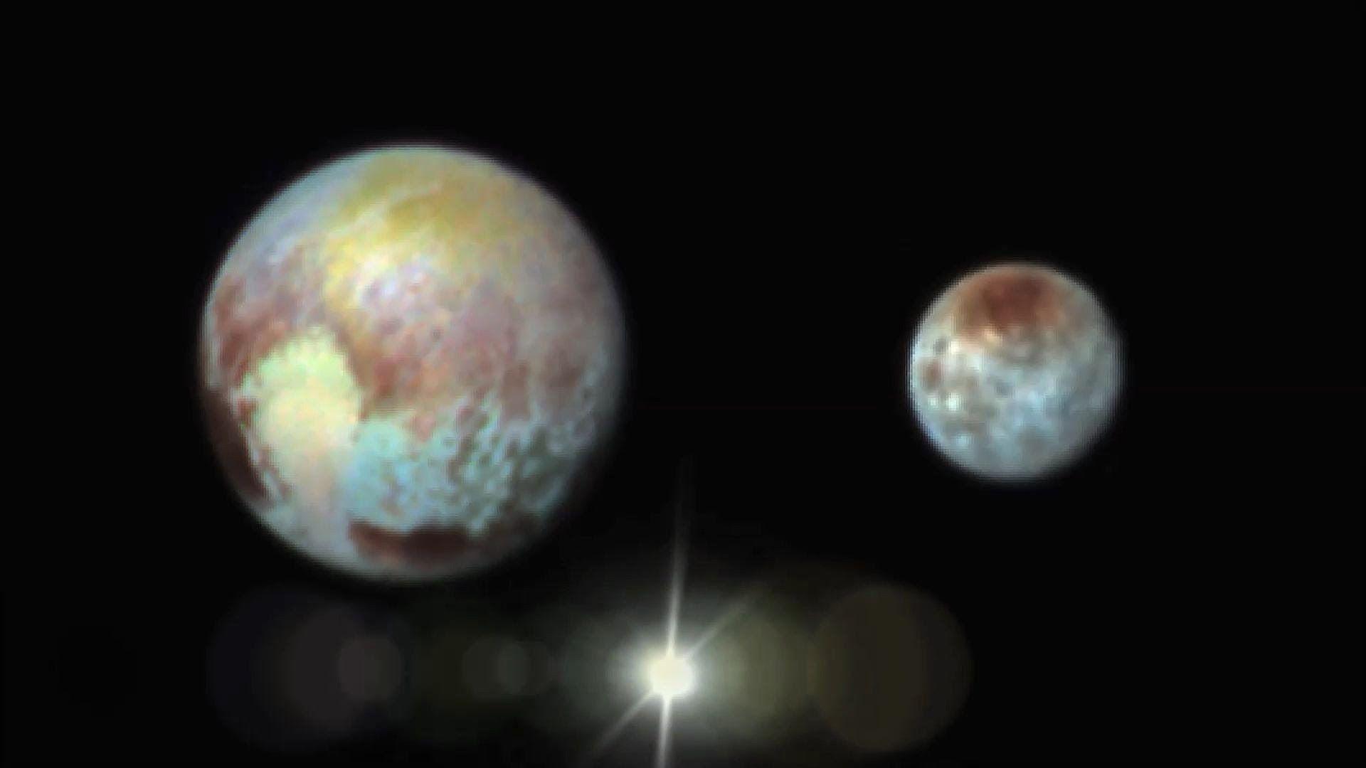 Plutón y Caronte a todo color. Imágenes de la nave New Horizons ...
