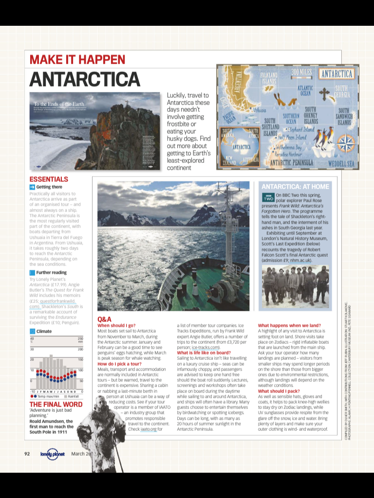 Antartica From Lonely Planet March 2012 Trips Of A Lifetime Antarctica Trip Long Trips [ 1024 x 768 Pixel ]