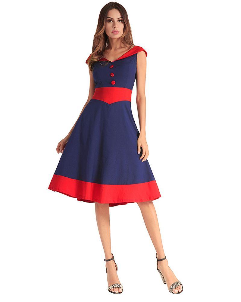 Knee Length V Neck Women Casual Dresses Floral Dresses d2408a38e