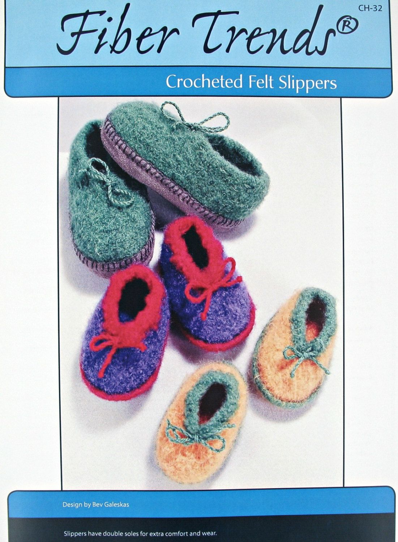 Crochet Pattern,Felted Kids Shoes Pattern,Felt Slippers Pattern,Six ...
