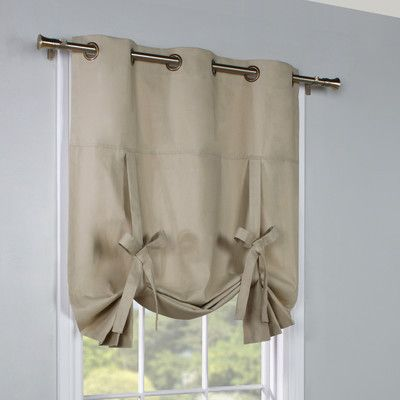 Alcott Hill Hopedale Thermal Lined Curtain Panel In 2021 Tie Up Curtains Curtain Decor Curtains