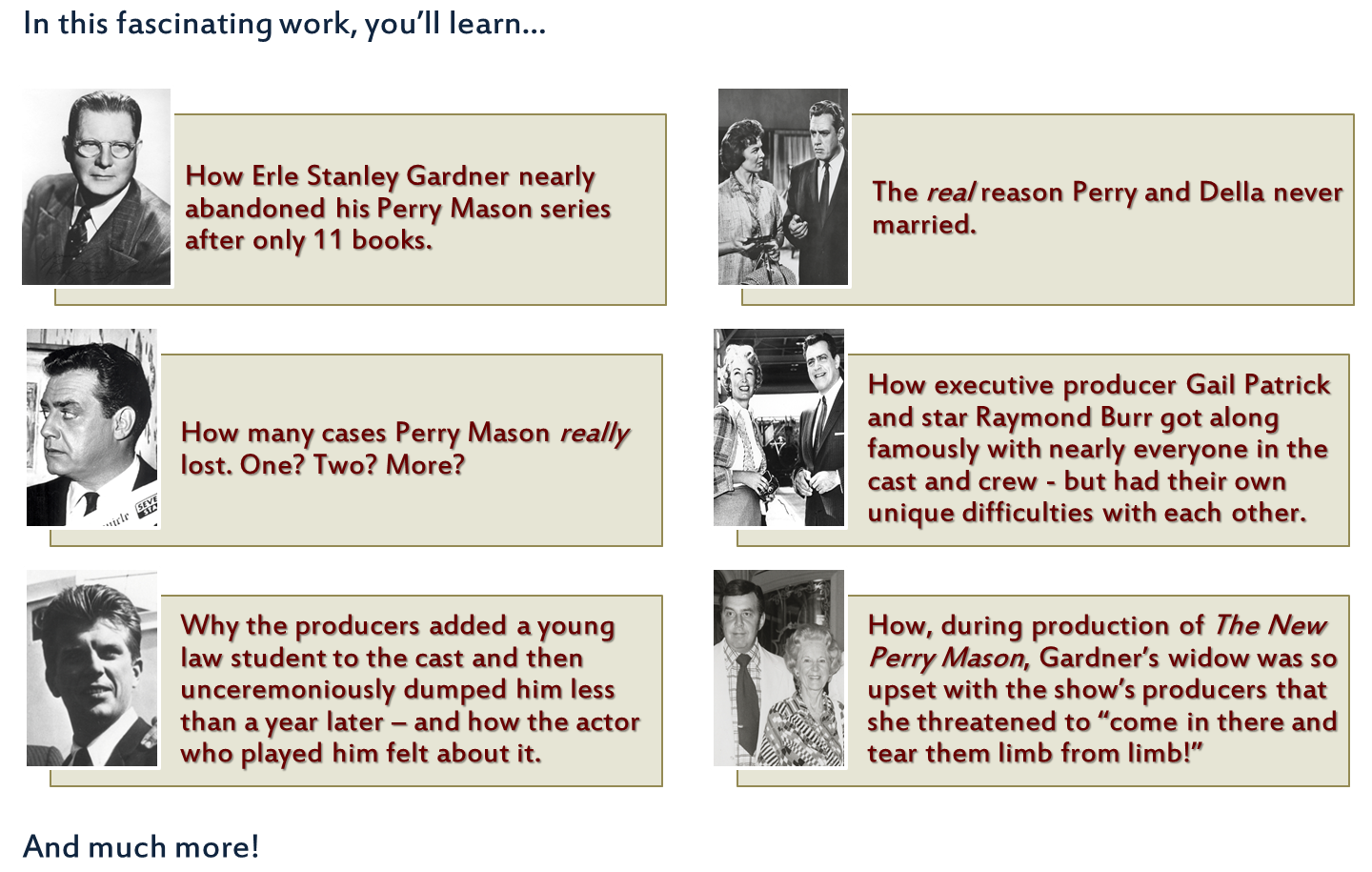 Classic Tv Info The Perry Mason Book Perry Mason Classic Tv Perry