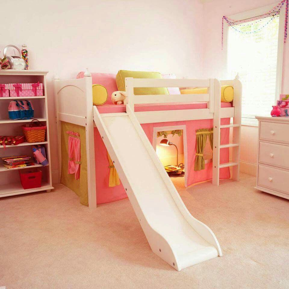 Loft bed with slide out desk  Pin by Erica Hammond on Kidus rooms  Pinterest  Kids s and Room