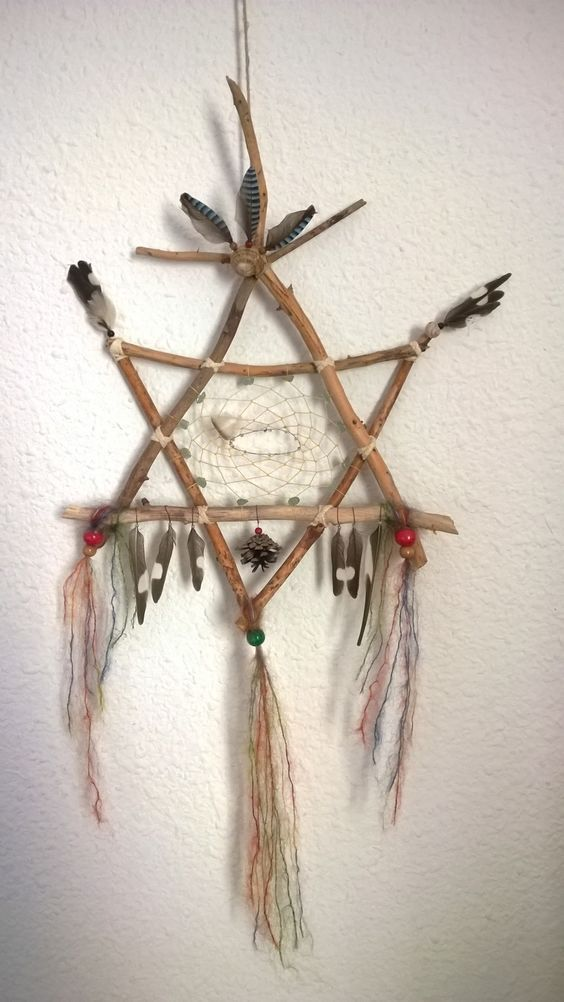 Star of David combined with an Indian dream catcher...YES!