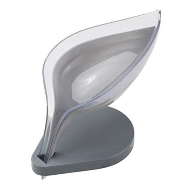 Leaf Shape Soap drying Dish - Gray