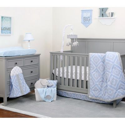 Nojo Dreamer 8 Piece Crib Bedding Set Color Blue Pinterest
